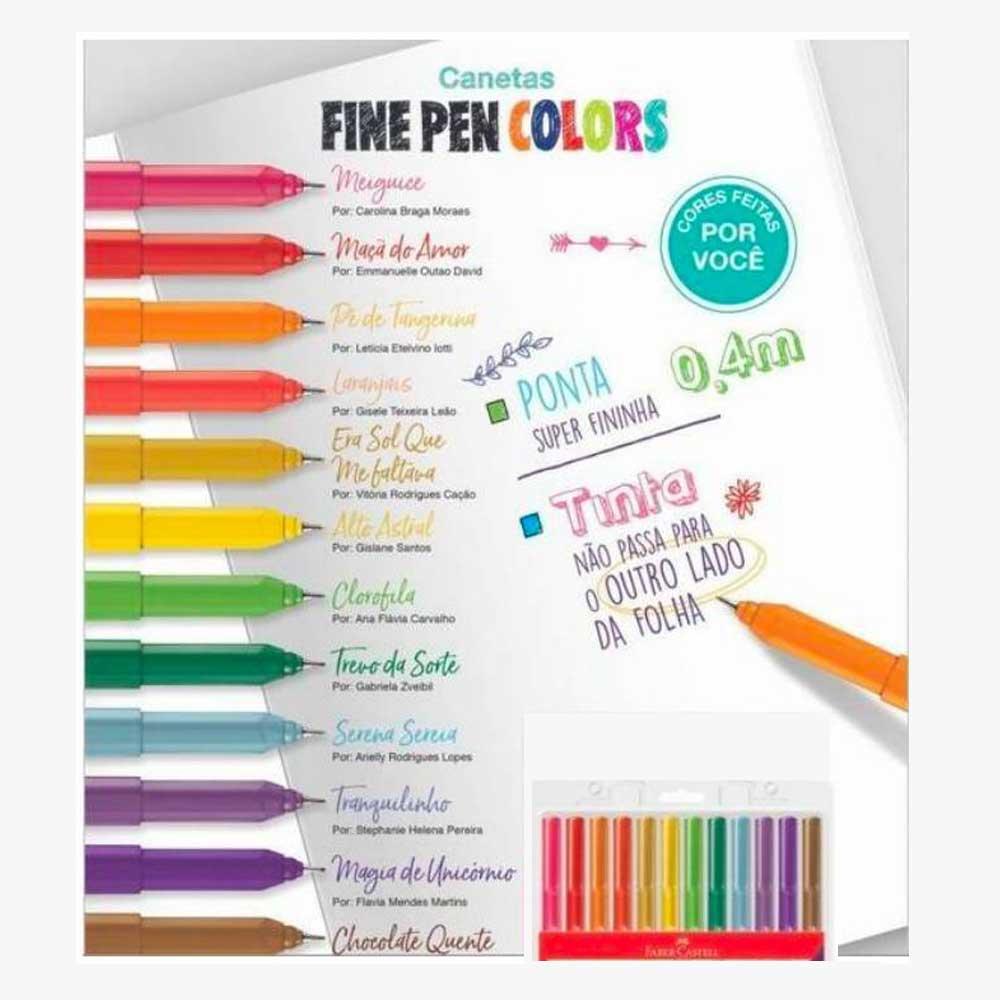 Caneta Fine Pen Hidrográfica 0.4mm Fineliner - Faber Castell