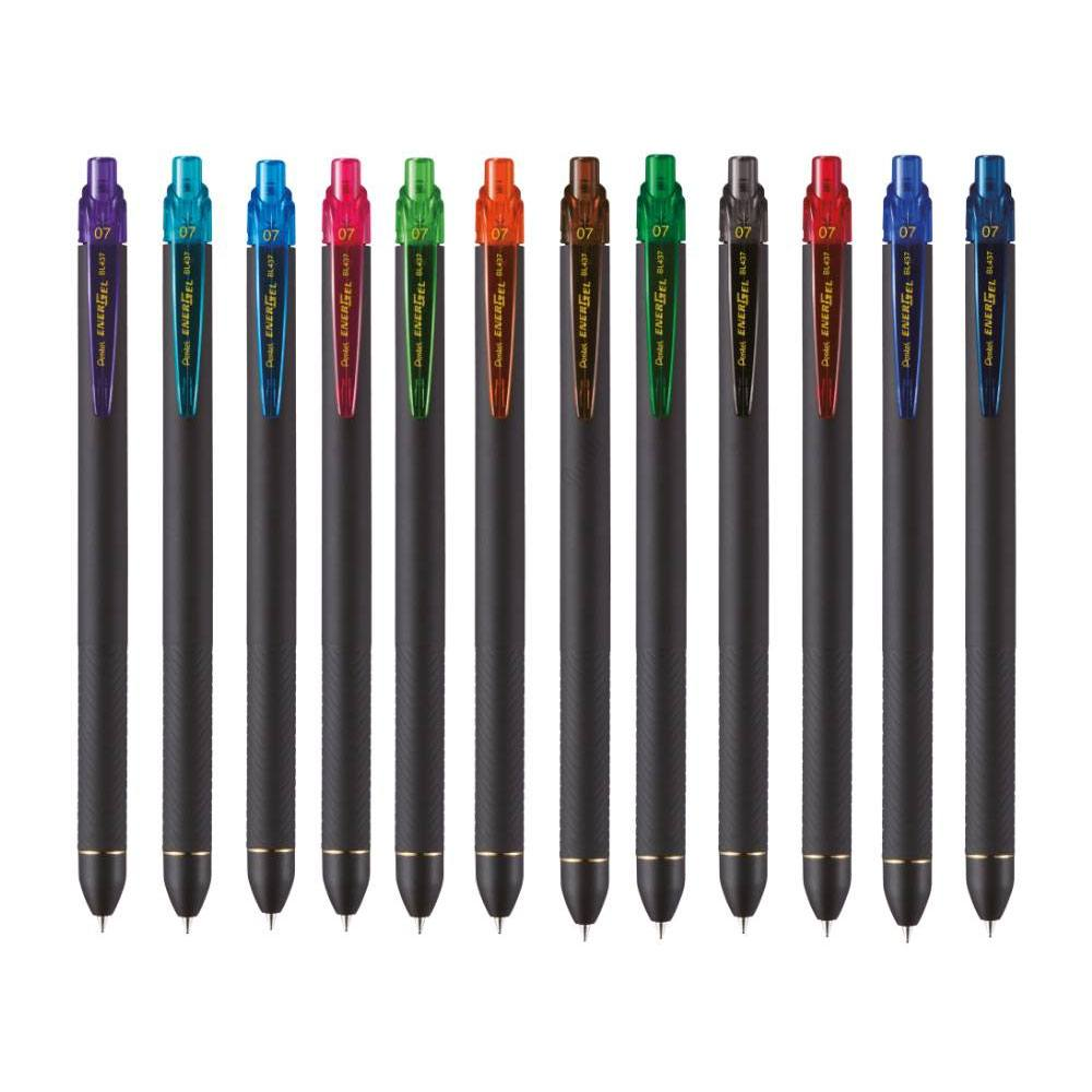Caneta Gel EnerGel Black Soft Touch 0.7mm - Pentel