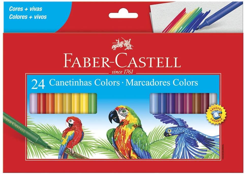 Caneta Hidrográfica 24 Cores 150124 Faber Castell