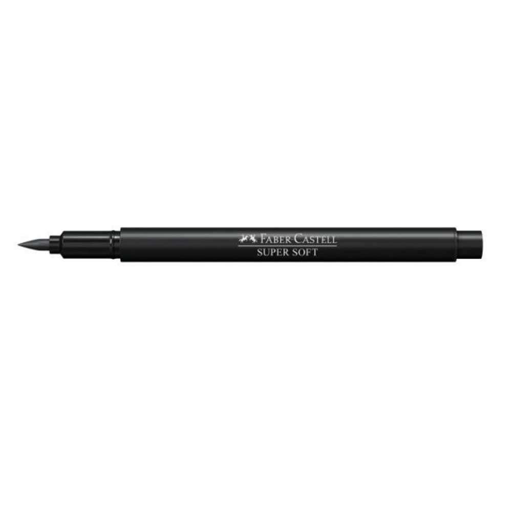 Caneta Brush Pen hidrográfica Supersoft Ponta Pincel - Faber Castell