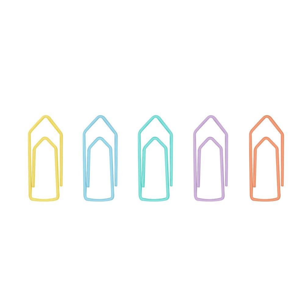 Clipes Para Papel 2/0 - Cor Pastel - Pote C/ 50 UN - BRW