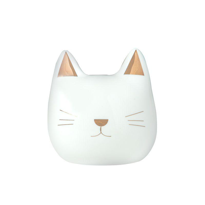 Cofre Decorativo Gato Branco 11cm