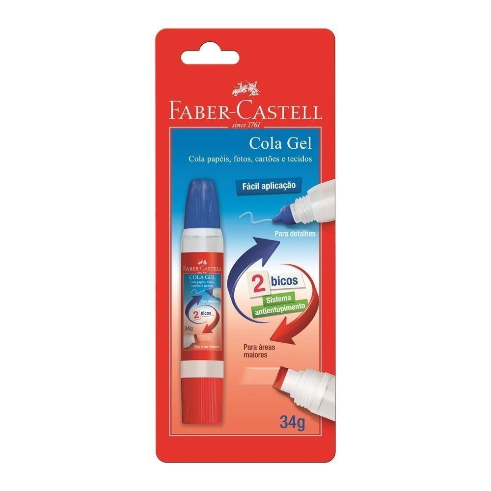 Cola Gel 2 Bicos 34gr - Faber Castell