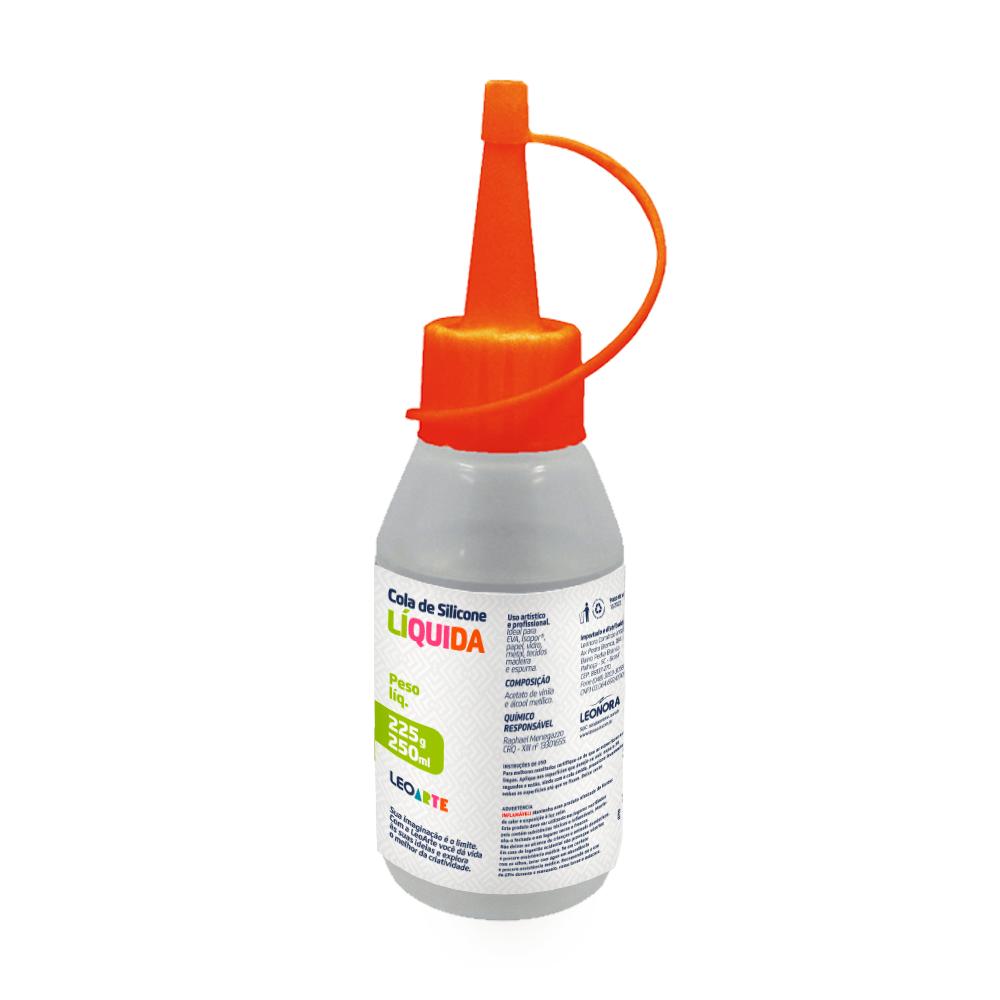 Cola de Silicone Liquida  Para Artesanato 60ml - Leoarte