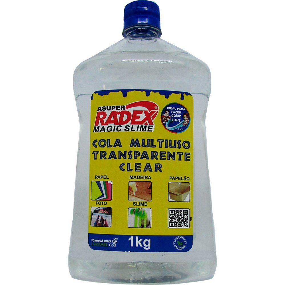 Cola Transparente 1Kg Magic Slime Radex - Escolar