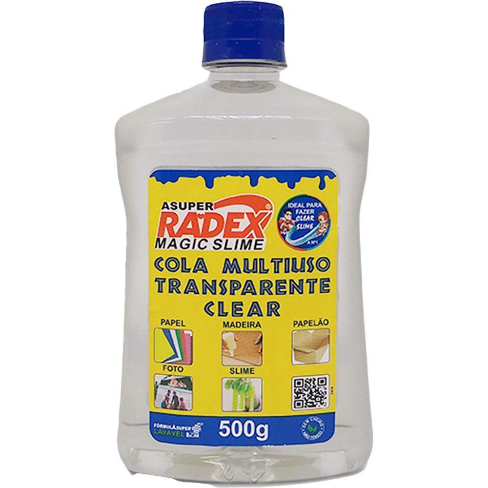 Cola Transparente 500gr Asuper Magic Slime Radex - Escolar