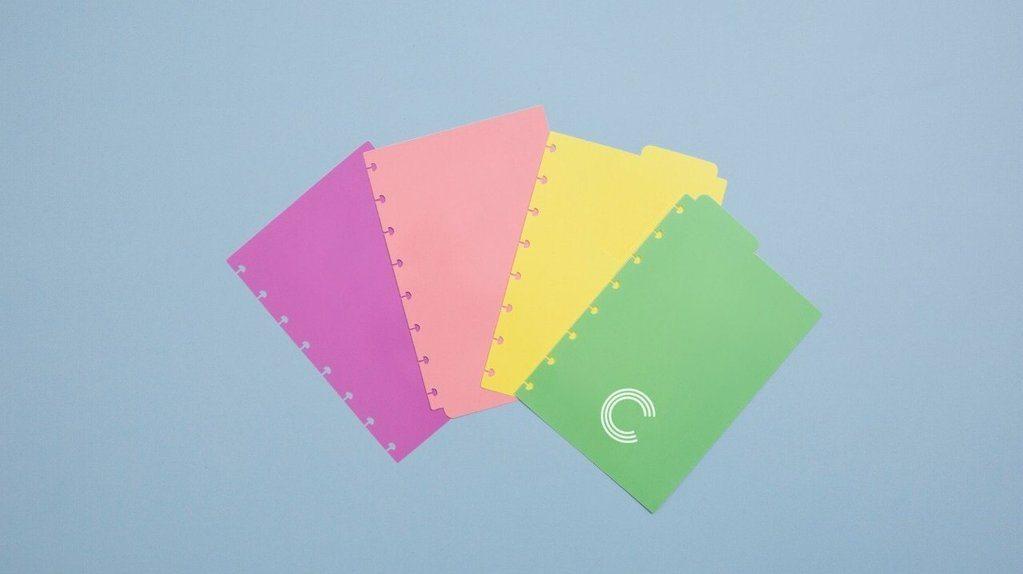 Divisórias Caderno Inteligente Pastel