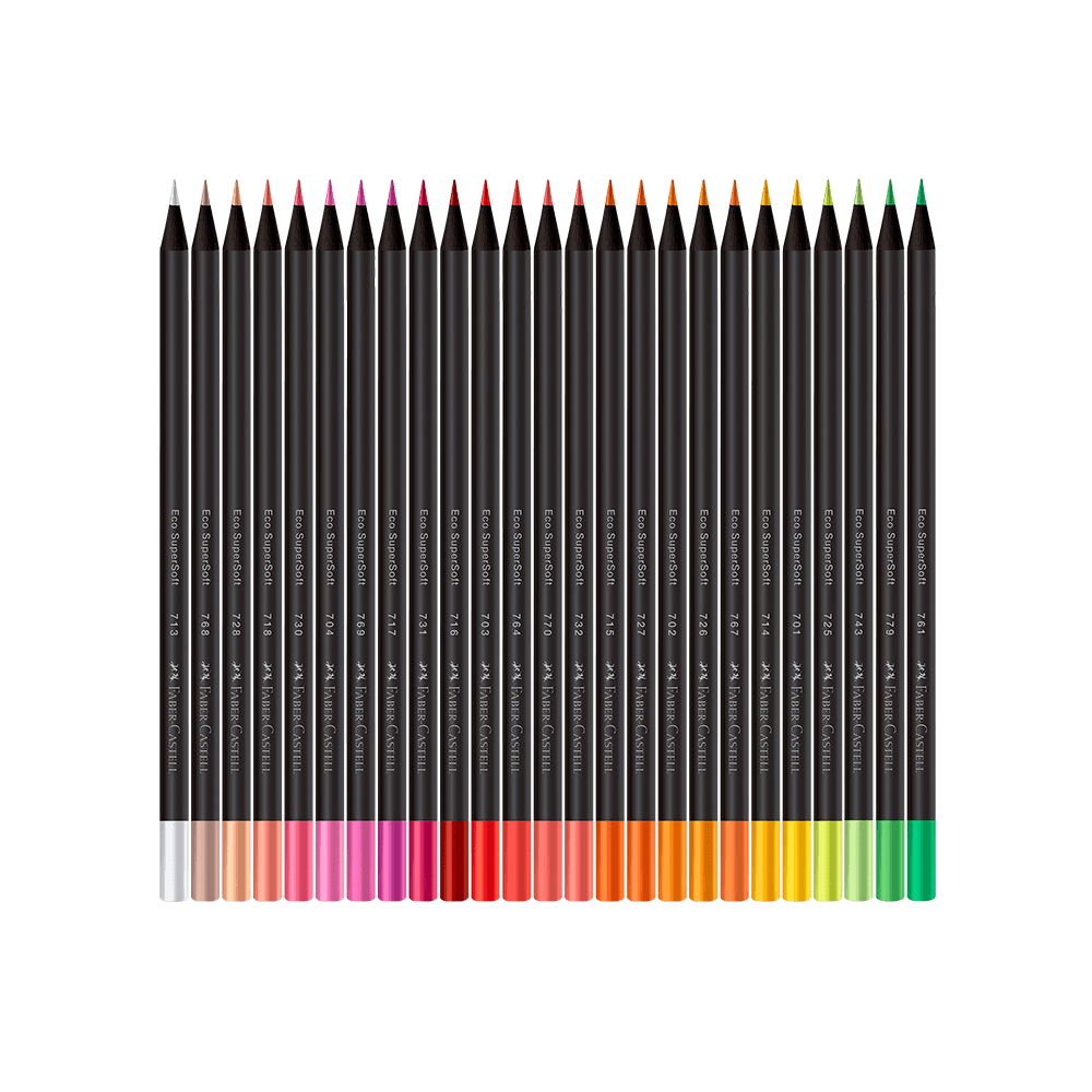 Lápis de Cor Ecolápis SuperSoft C/ 100 Cores - Faber Castell