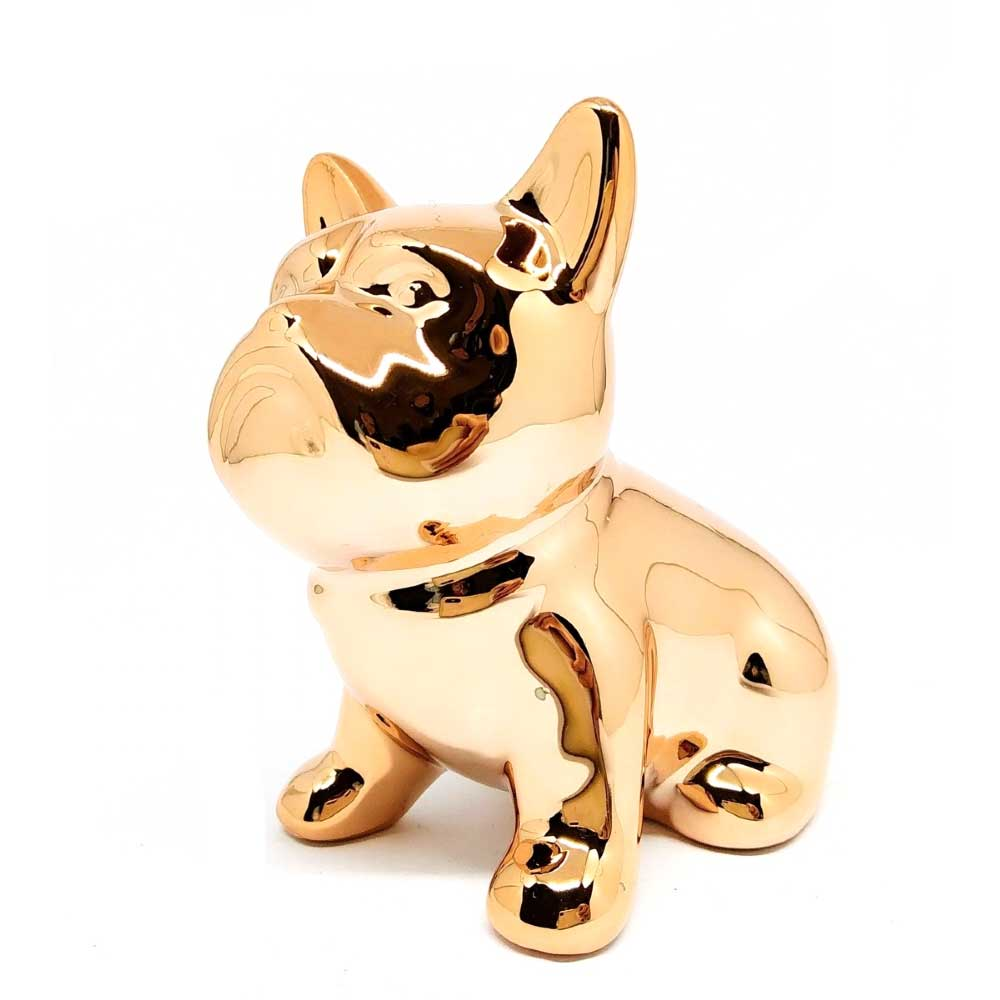 Enfeite Decorativo Cachorro 10x9cm Rosê