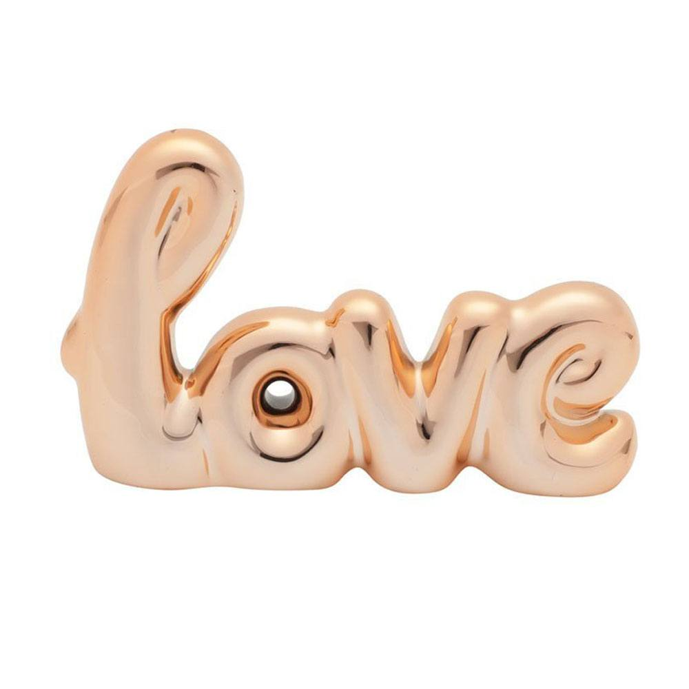 Enfeite Cerâmica Decorativo Love - 10cm