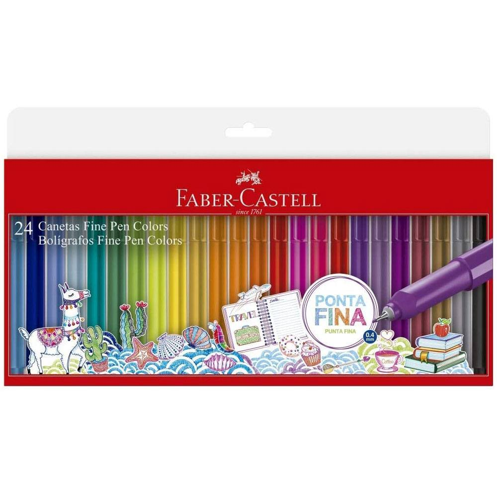 Caneta Fine Pen 0.4mm C/24 Cores - Faber Castell