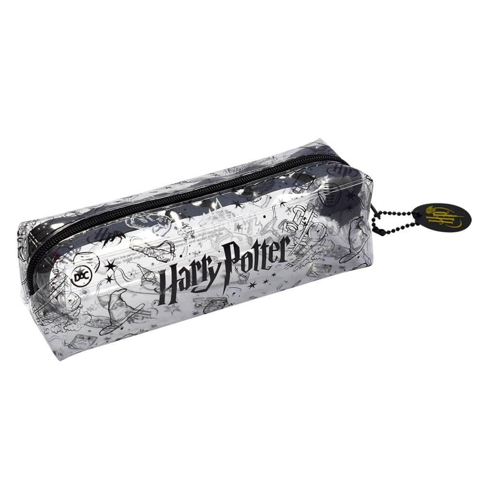 Estojo Escolar Harry Potter em PVC Cristal Transparente - DAC