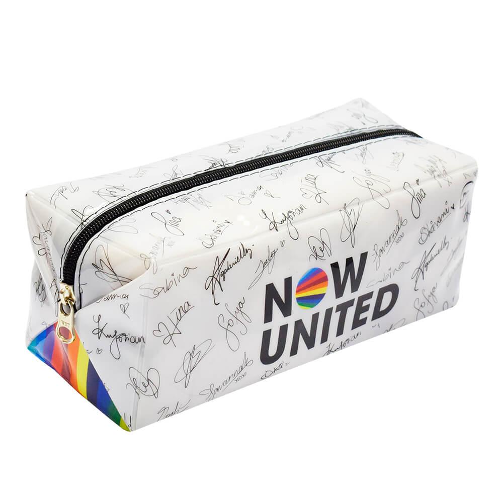 Estojo Escolar Grande Now United em PVC Cristal - DAC
