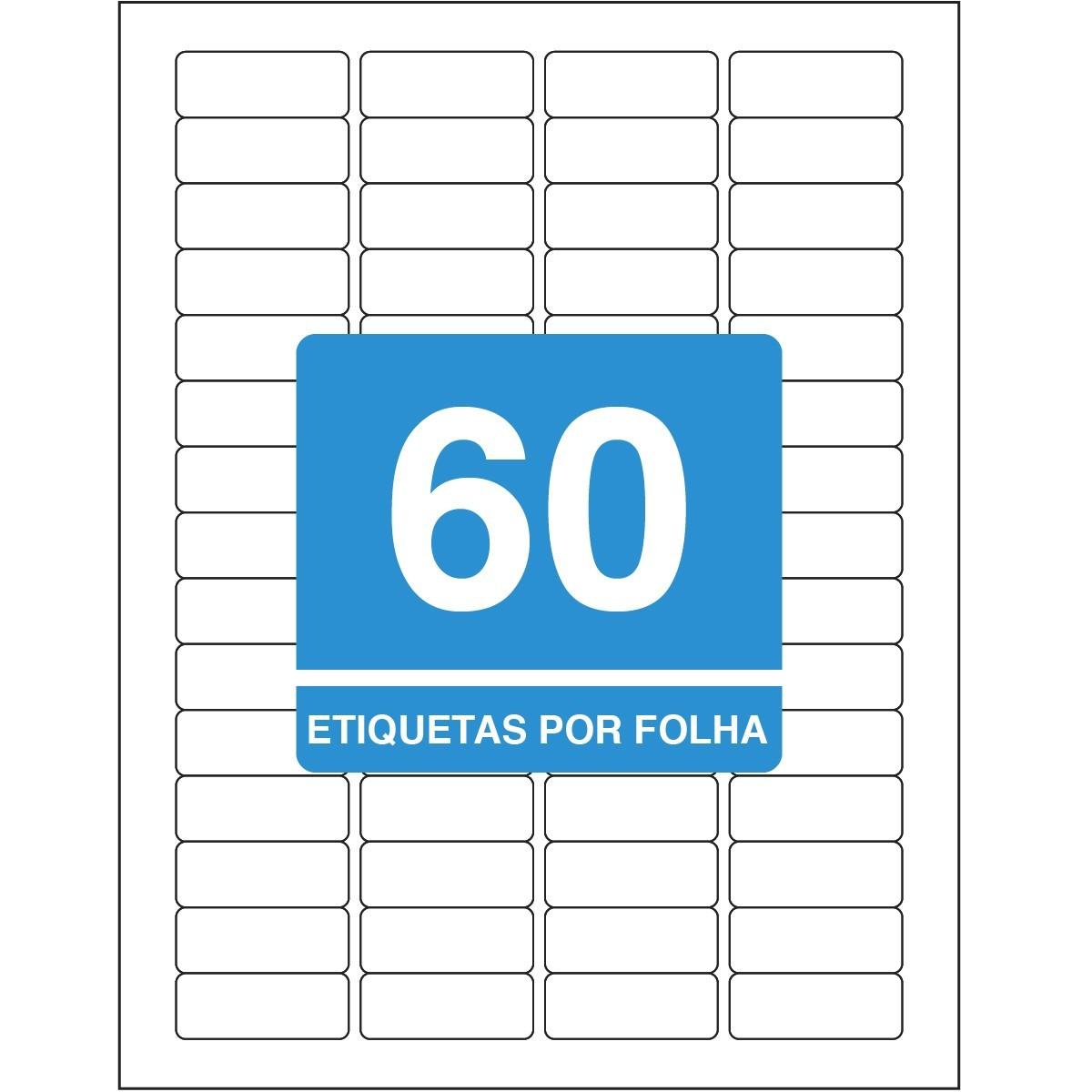 Etiqueta Adesiva Inkjet + Laser Carta 16,93x44,45mm 6089 10 Fls 600 Und - Tilibra