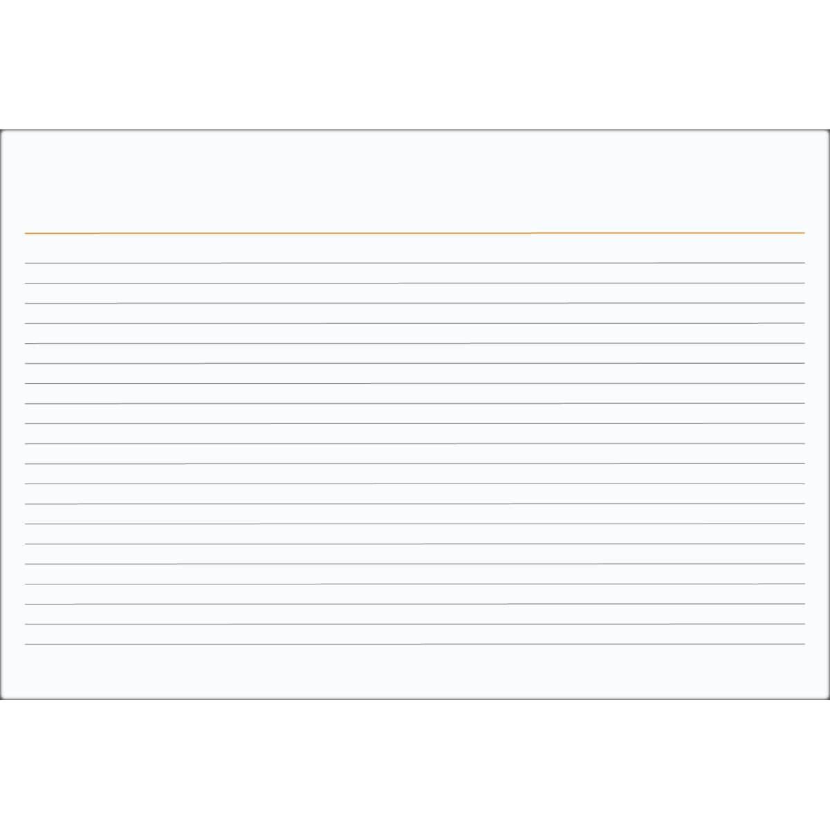 Ficha Pautada Número 3 - 5x8 100 Folhas - Tilibra