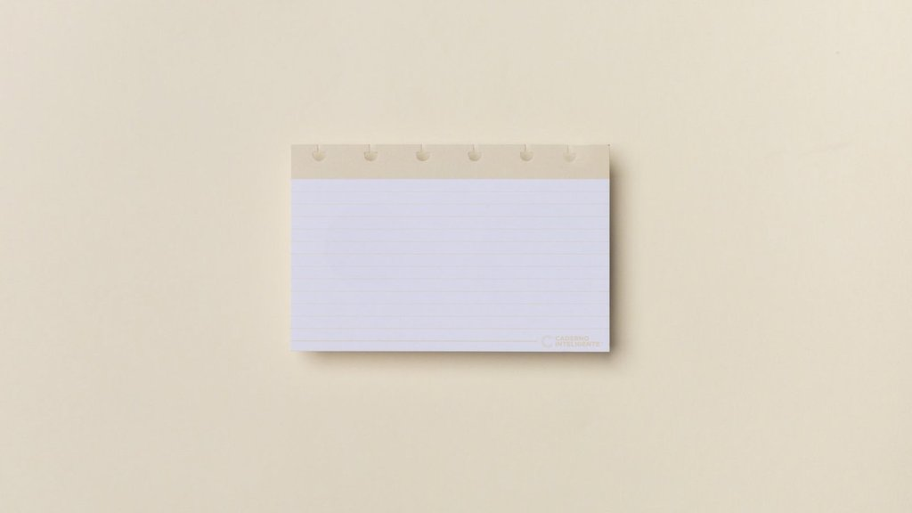 Fichas Pautadas Caderno Inteligente - 4X6