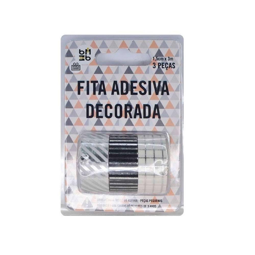 Fita Decorativa/Washi Tape C/3 Unid 3Mt