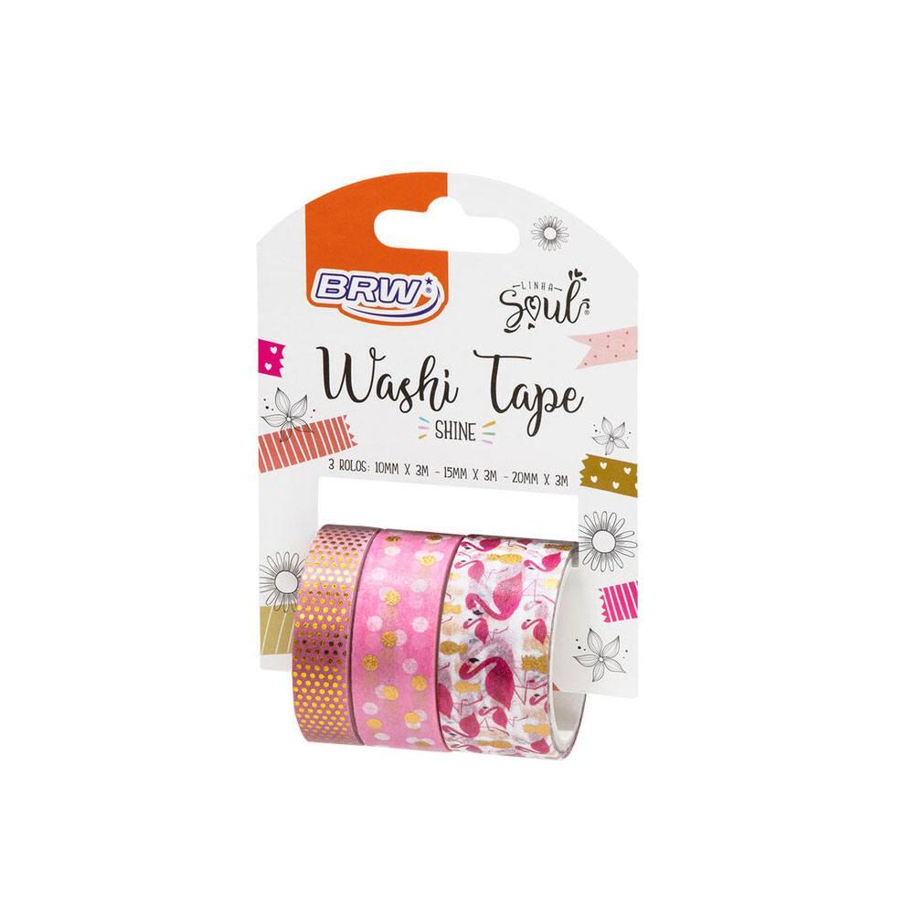 Fita Adesiva/Washi Tape Shine 10/15/20x3m c/ 3un - BRW