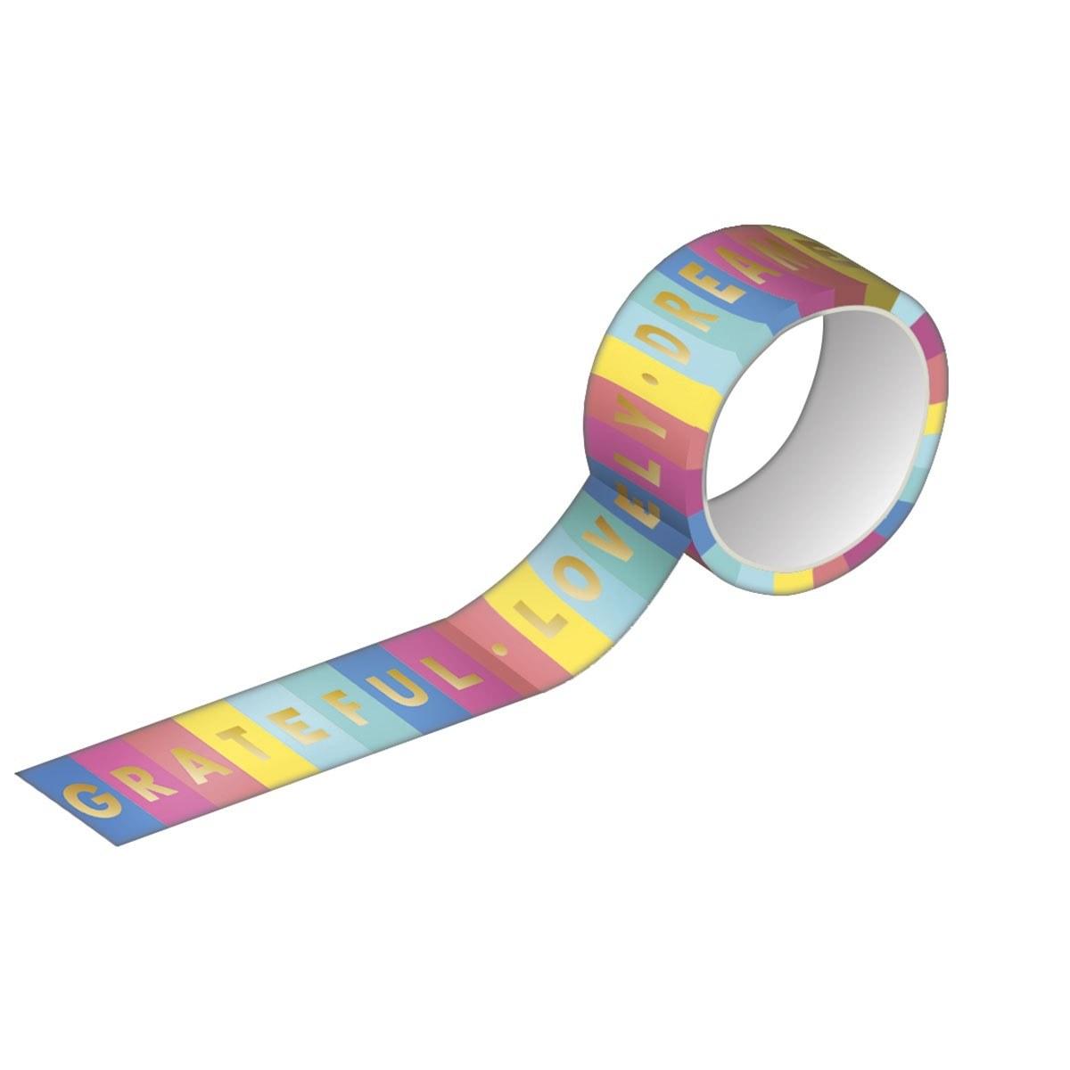 Fita Adesiva Washi Tape 15mmX10m Estampada e Metalizada - Tilibra