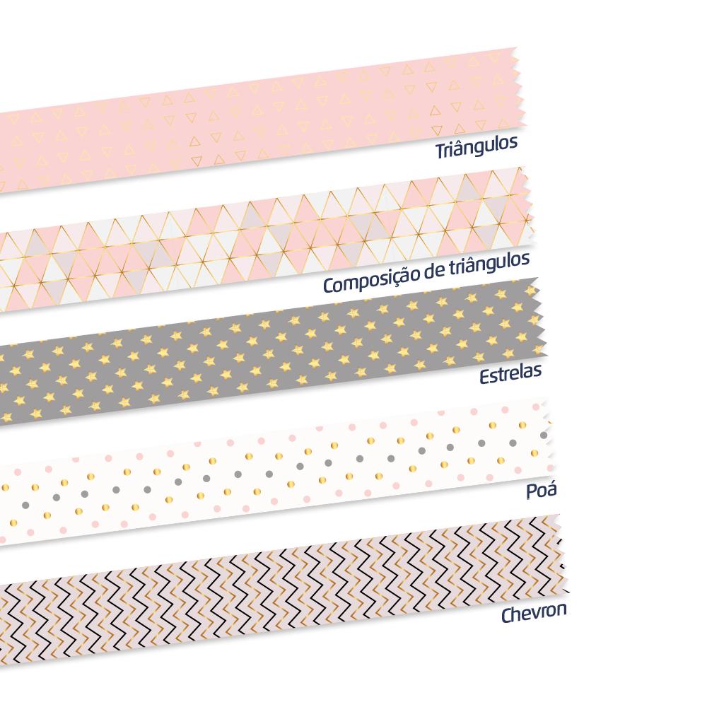 Fita Decorativa/Washi Tape Geometric 15mmX5M - Leoarte