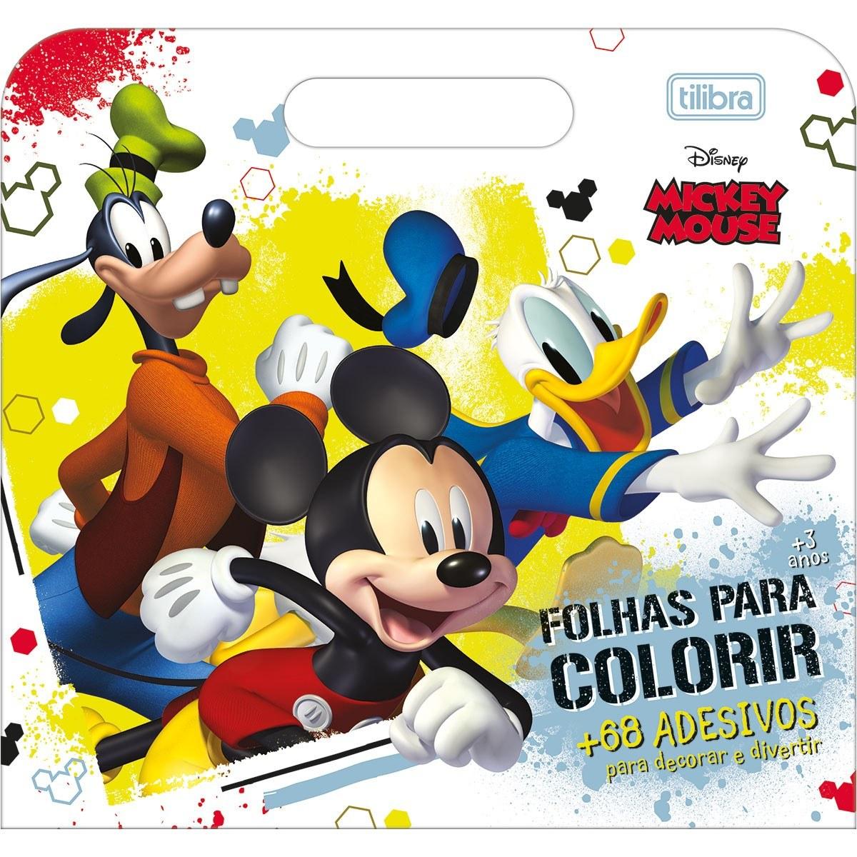 Folhas P/ Colorir Maleta 8fls + 68 Adesivos - Tilibra