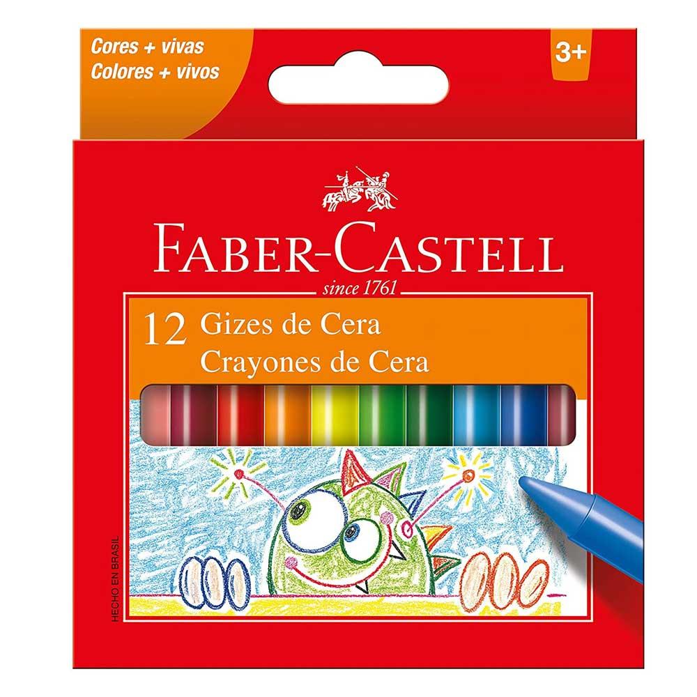 Giz de Cera 12 Cores - Faber-Castell