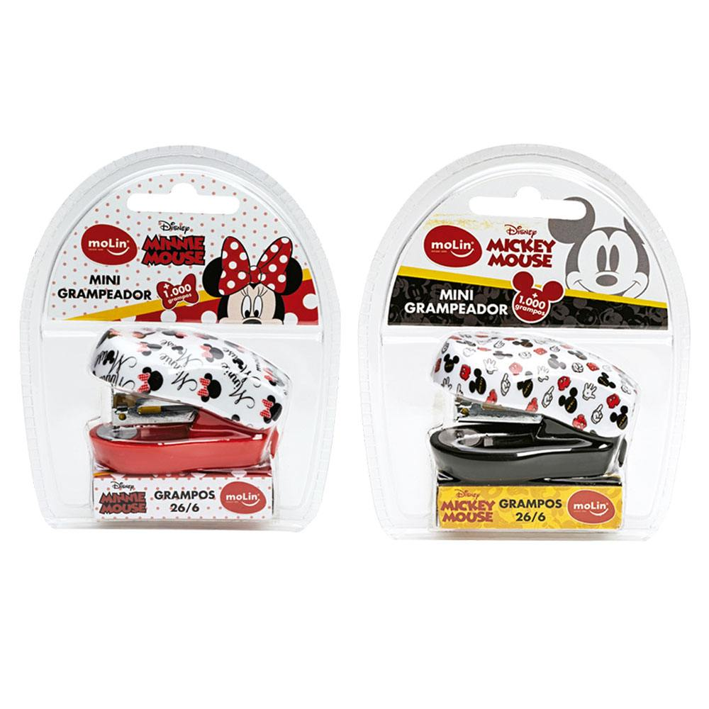 Mini Grampeador + 1000 Grampos Minnie/ Mickey Disney - Molin