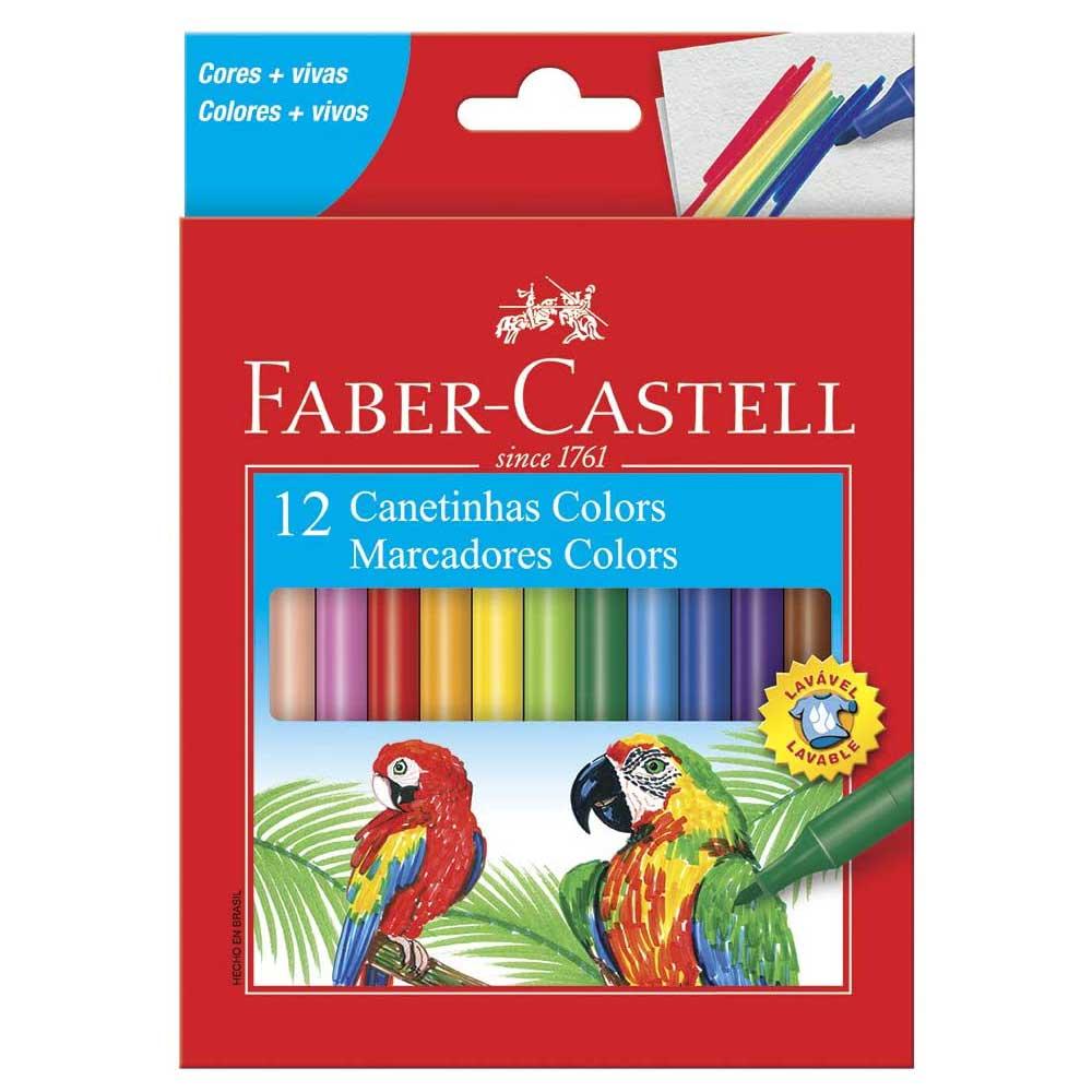 Canetinha Hidrográfica 12 Cores Estojo Cartão - Faber-Castell