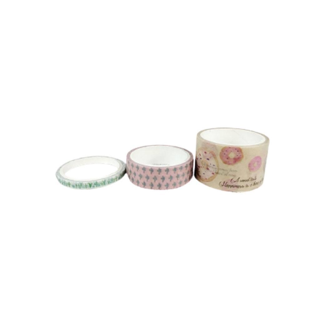 Fita Decorativa/Washi Tape Sortida C/3 Unid