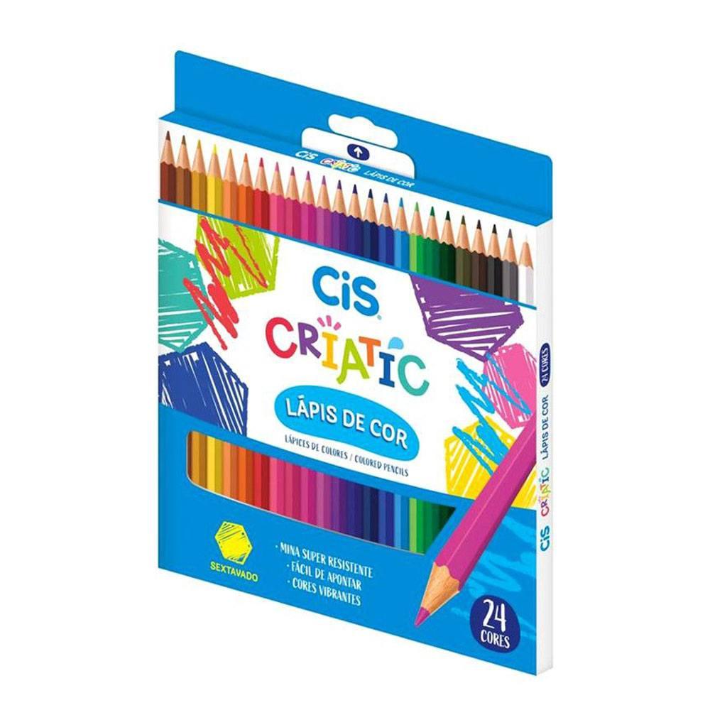 Lápis de Cor 24 Cores Criatic  - CiS