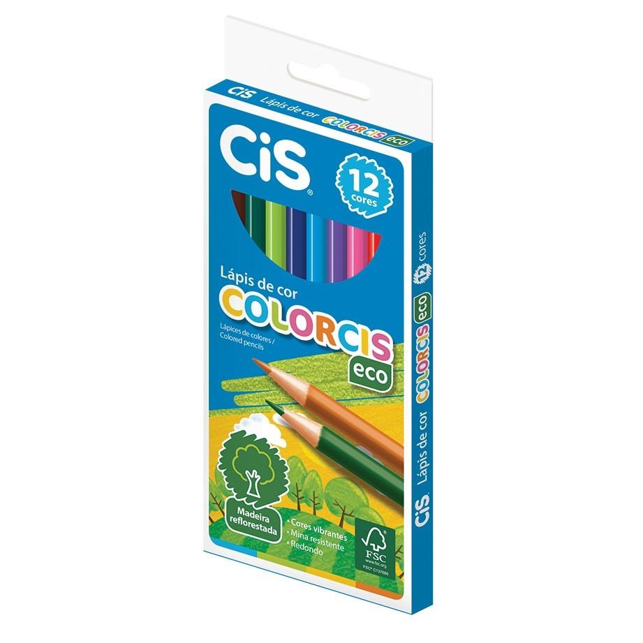 Lápis de Cor Escolar ColorCiS Eco C/ 12 Cores - Cis