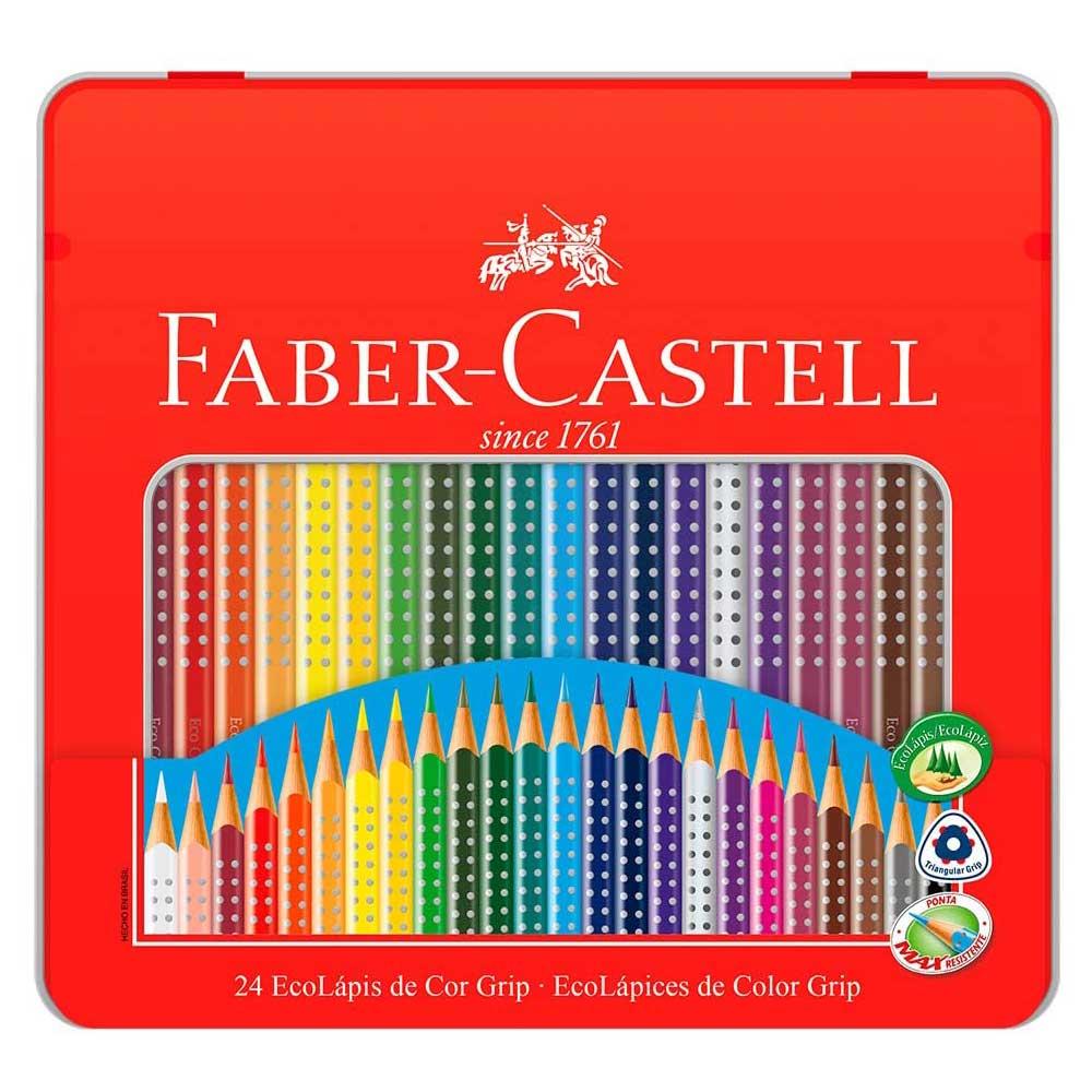 Lápis de Cor 24 Cores Ecolápis Grip na Lata - Faber-Castell