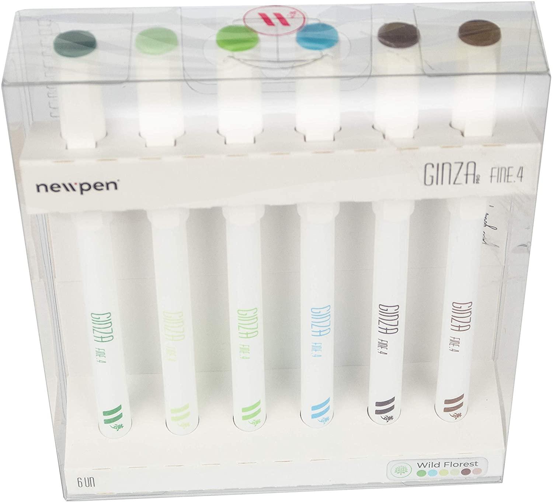 Marcador Artístico Ginza Fineliner 0,4mm - Estojo com 6 cores - Newpen