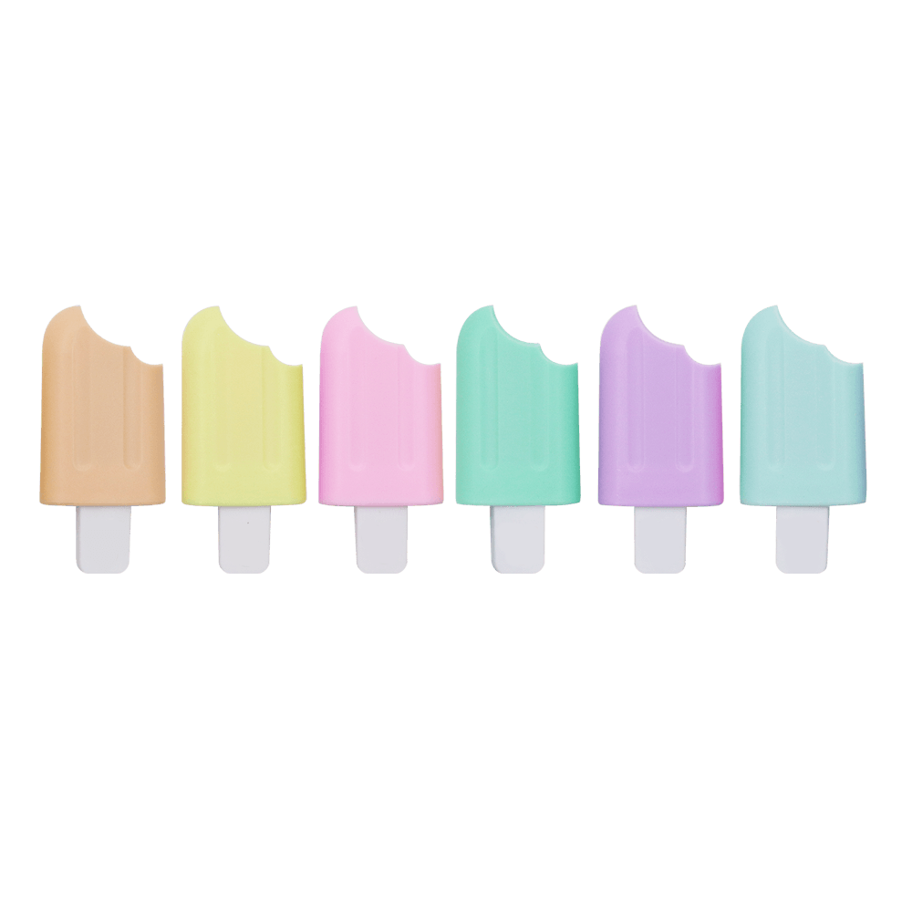 Caneta Marca Texto Mini Picolé Pastel Trend  - Jocar Office