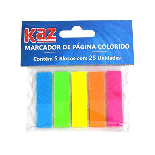 Marcador de Página Autoadesivo Neon Colorido 5X25Fls