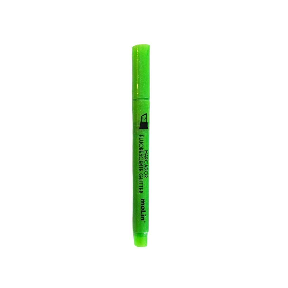 Marca Texto Fluorescente Com Glitter  - Molin