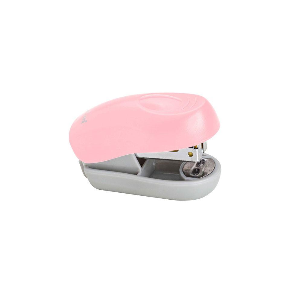 Mini Grampeador Rosa Claro 8 Fls - Molin