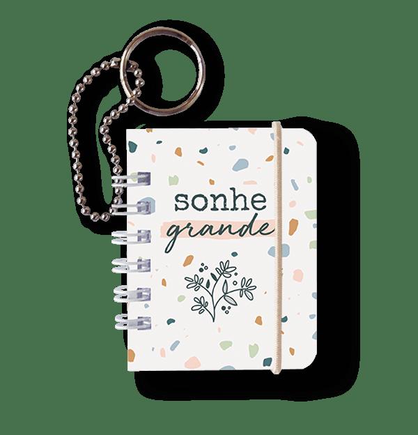 Caderno Chaveiro Mini Notes - Cartões Gigantes