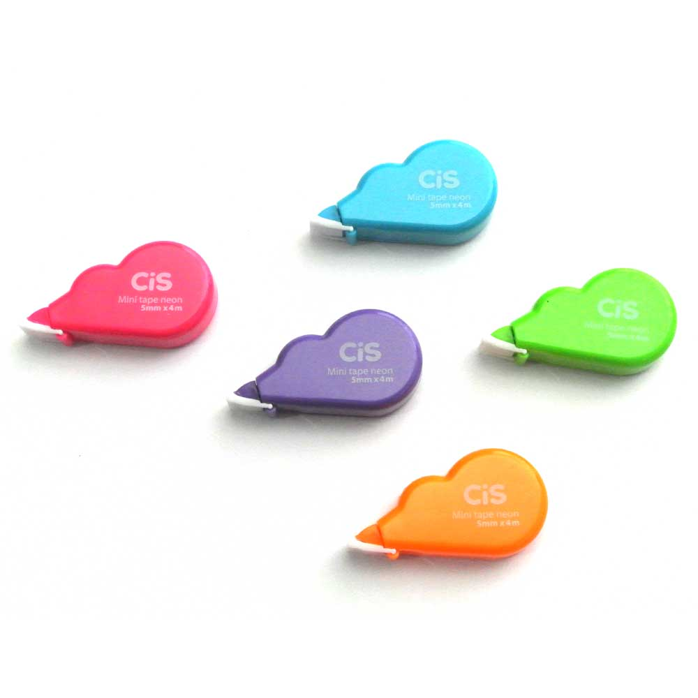 Fita Corretiva Mini Tape Neon 5mmx4m - CIS