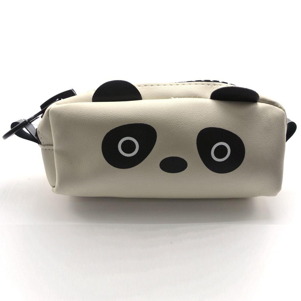 Estojo Necessaire Sintético Panda Zíper Largo
