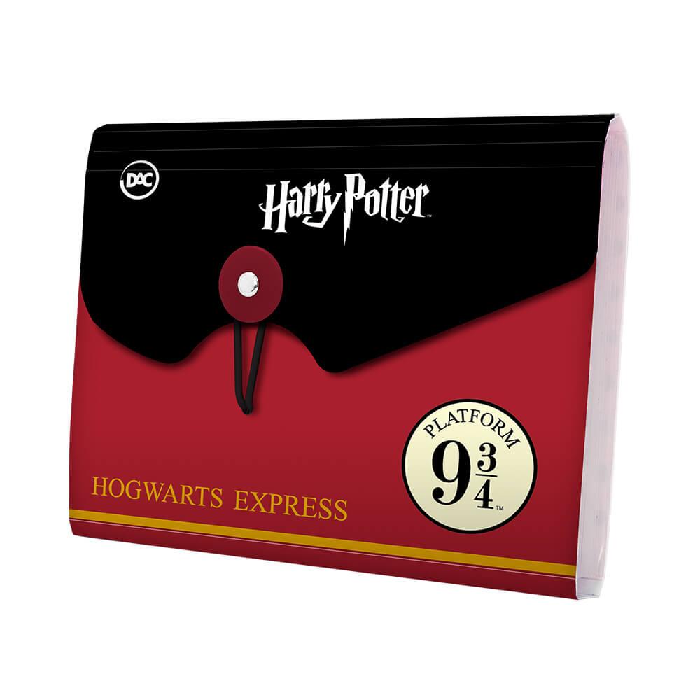 Pasta Sanfonada A6 com 5 Divisões Harry Potter – DAC