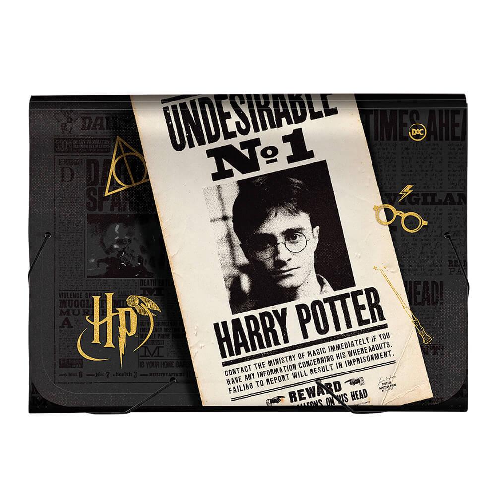 Pasta Sanfonada A4 Harry Potter C/ 12 Divisões - DAC