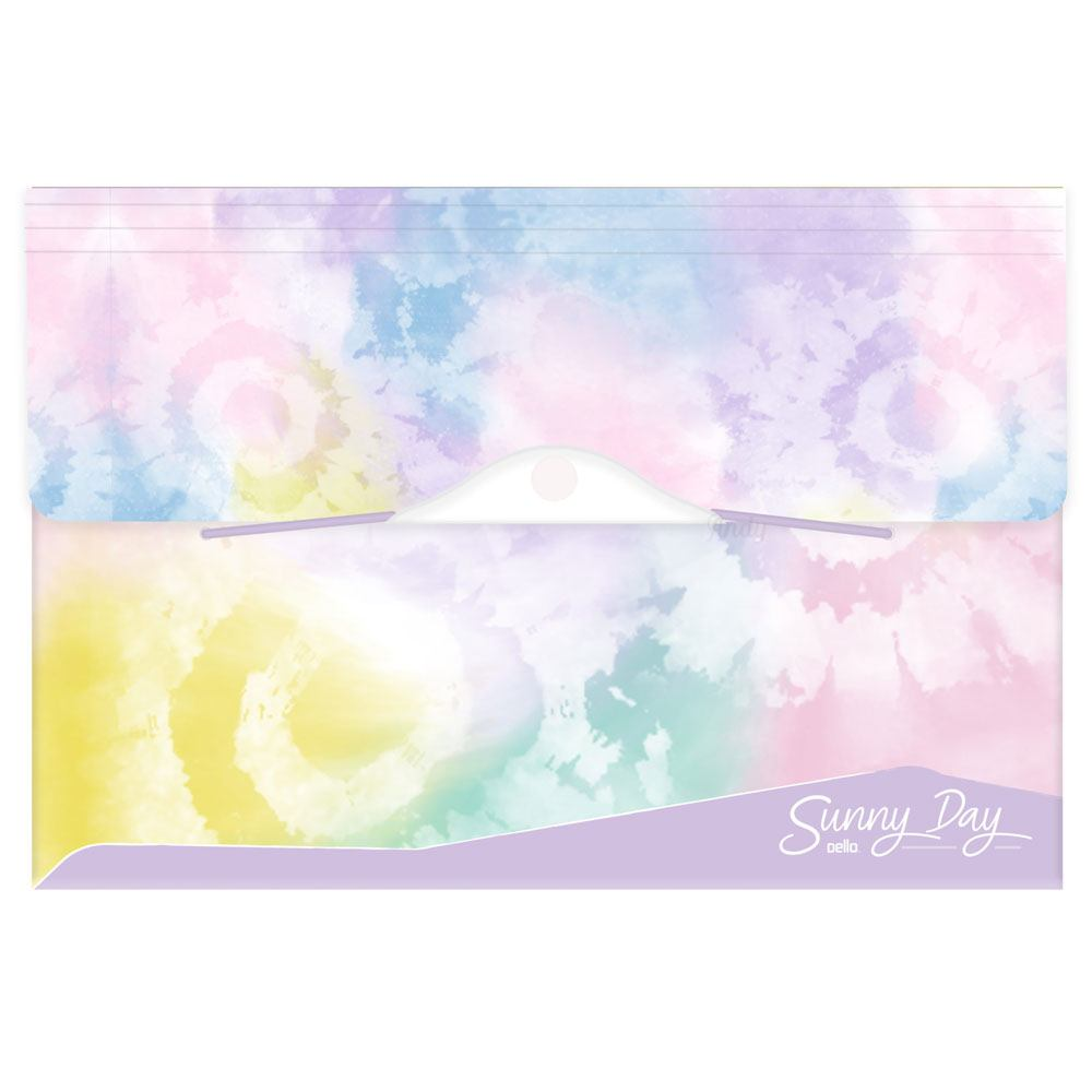 Pasta Sanfonada Tie Dye A4 SunnyDay – Day C/ 12 Divisórias  - Dello