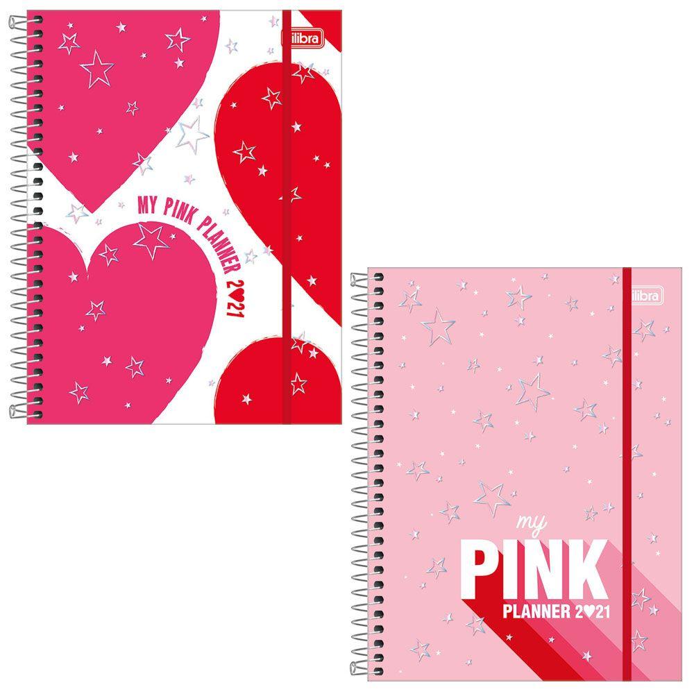 Agenda/Planner Espiral Médio Love Pink 2021 - Tilibra