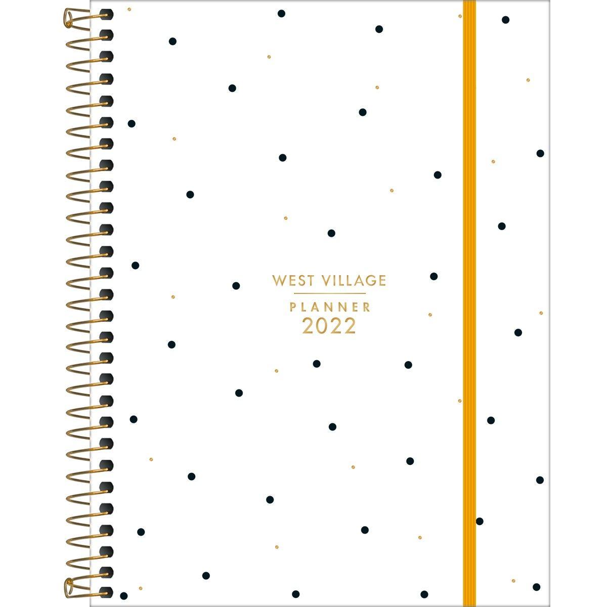 Planner Espiral 17,7 X 24cm West Village 2022 M7 - Tilibra
