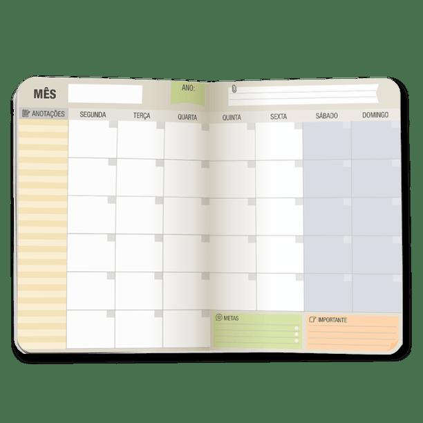 Planner Mensal Brochura - Cartões Gigantes