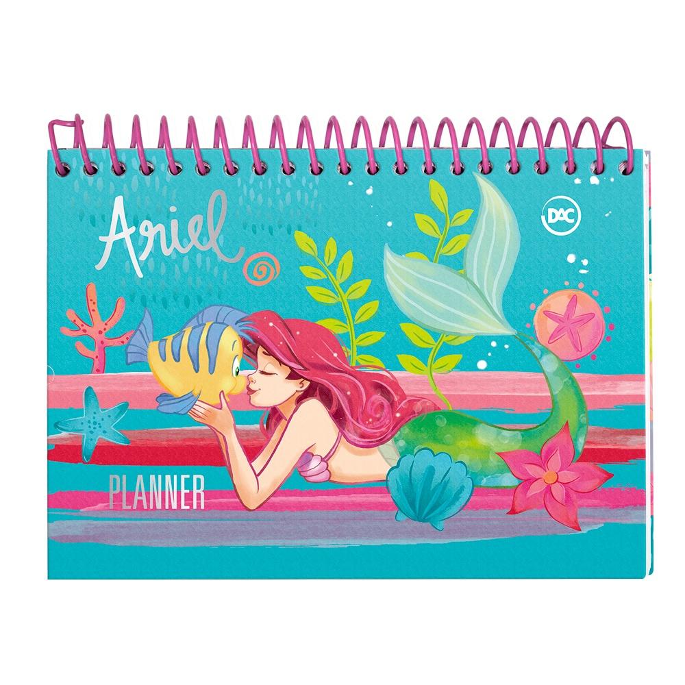 Planner Permanente Espiral Princesa Ariel 96Fls 200x140mm - DAC