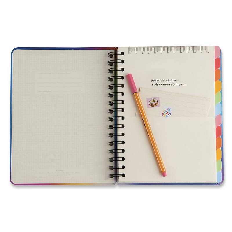 Planner Mensal e Semanal Wire-o 14,8x21 A5 - Cicero