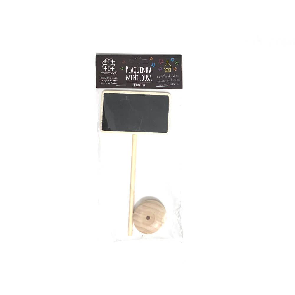 Plaquinha Mini Lousa Decorativa com Haste 16cm - Moment