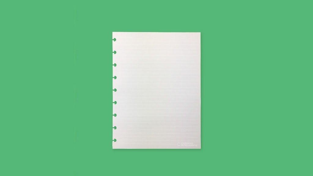 Refil Pautado Linha Branca 120g - Caderno Inteligente
